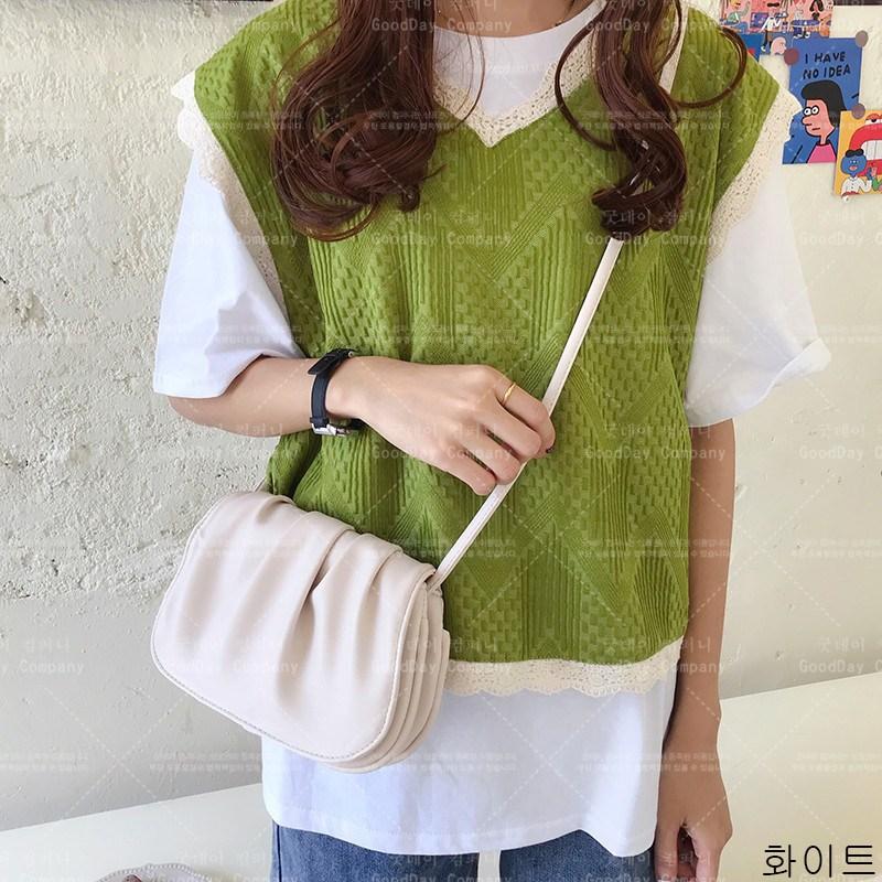 굿데이 컴퍼니 여성 패션 숄더백 플리츠 크로스백 lDJB11
