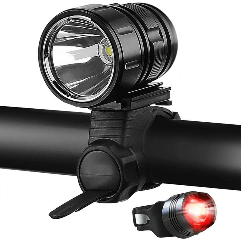 자전거 라이트 1200 루멘 밝은 프론트 라이트 세트 자전거 LED 라이트 IPX6 방수 USB 충전식 배터리 미등