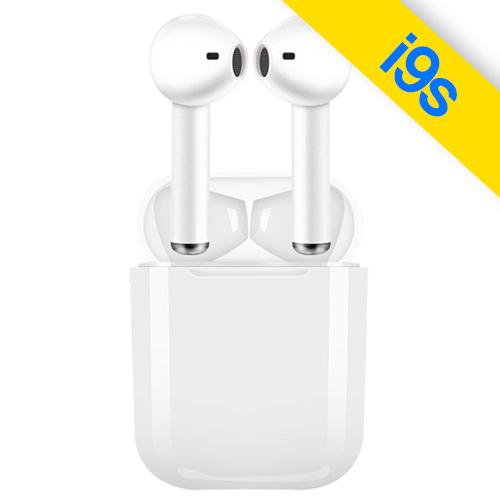 꿀템팩토리 에어로팟 블루투스 무선 이어폰, SMC-I9, 화이트