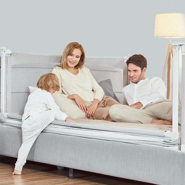 babyBBZ 슬라이딩 침대가드 높이조절 최대81cm, 슬라이딩(198-그레이)
