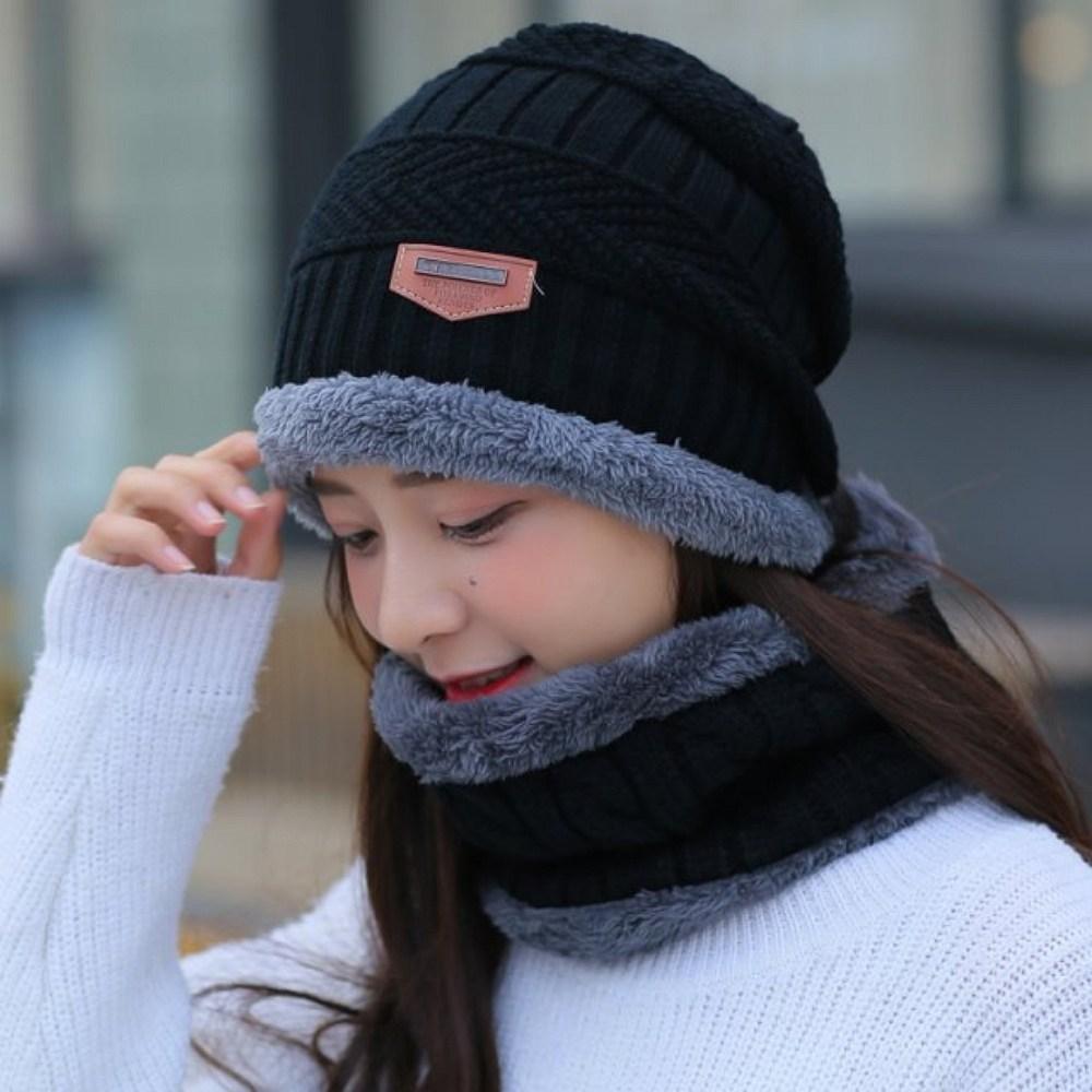마이쁘띠 겨울 넥워머 모자 세트