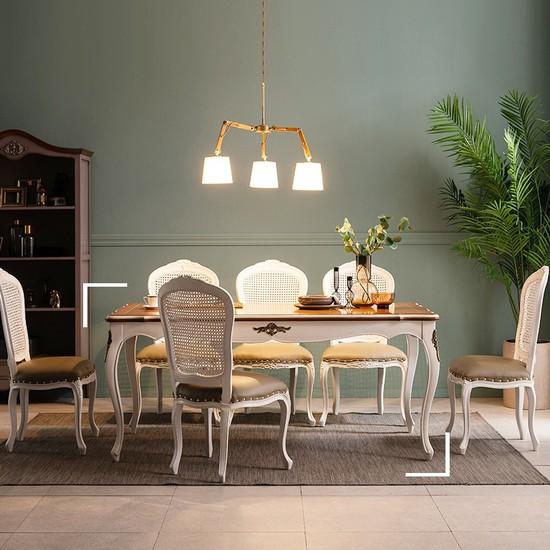 [퍼니프랑]수입 엔틱가구 RG 17 미색 6인 식탁 테이블, 없음