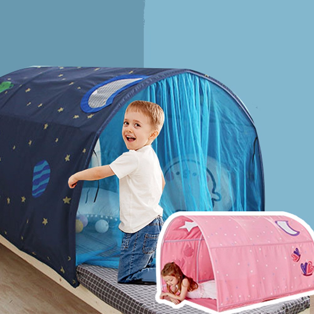 어린이 별하늘 키즈랜드 텐트, 블루+문발