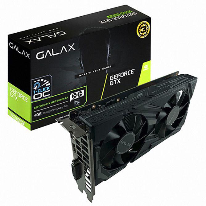 GALAX 지포스 GTX 1650 SUPER EX BLACK OC D6 4GB gtx1660슈퍼/1660super/그랙픽카드/gtx1060/rtx2070super/rtx2060super/rx580/rx570/그래픽카드rtx2060/rx570, 단일 모델명/품번