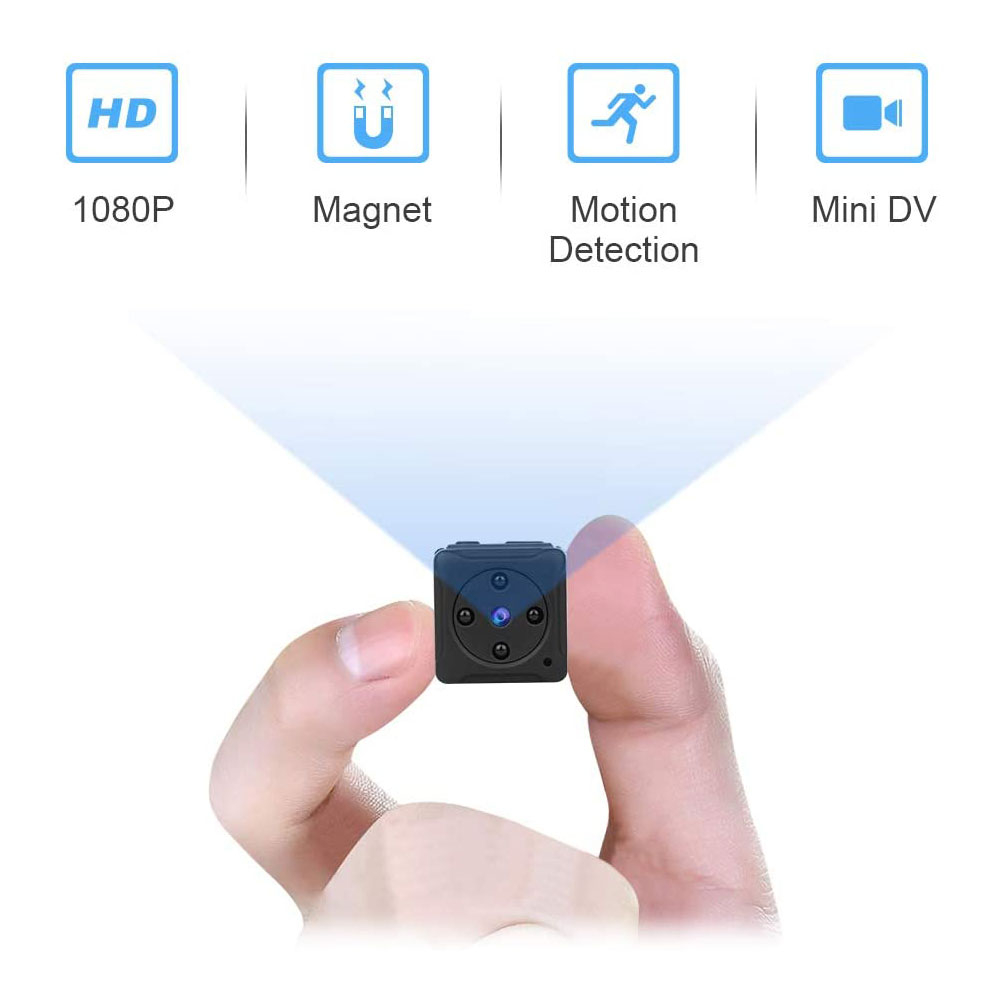 NIYPS 미니 보안 카메라 1080P 야간 시력 및 모션 탐지 감시 HD카메라
