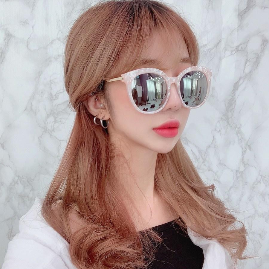 VANANA2 핑크 오버사이즈 미러 선글라스