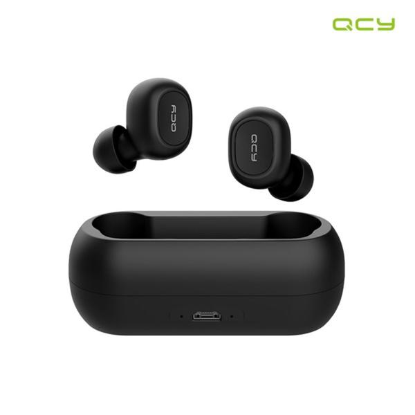QCY 국내정품출시 T1C 무선 블루투스 5.0 이어폰 블루투스이어셋, T1C 블랙