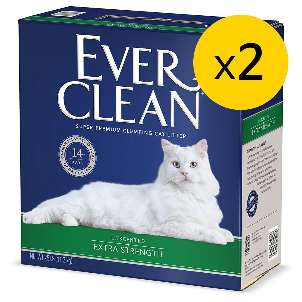 에버크린 ES UN 언씬티드 고양이모래 무향 11.3kg 2개