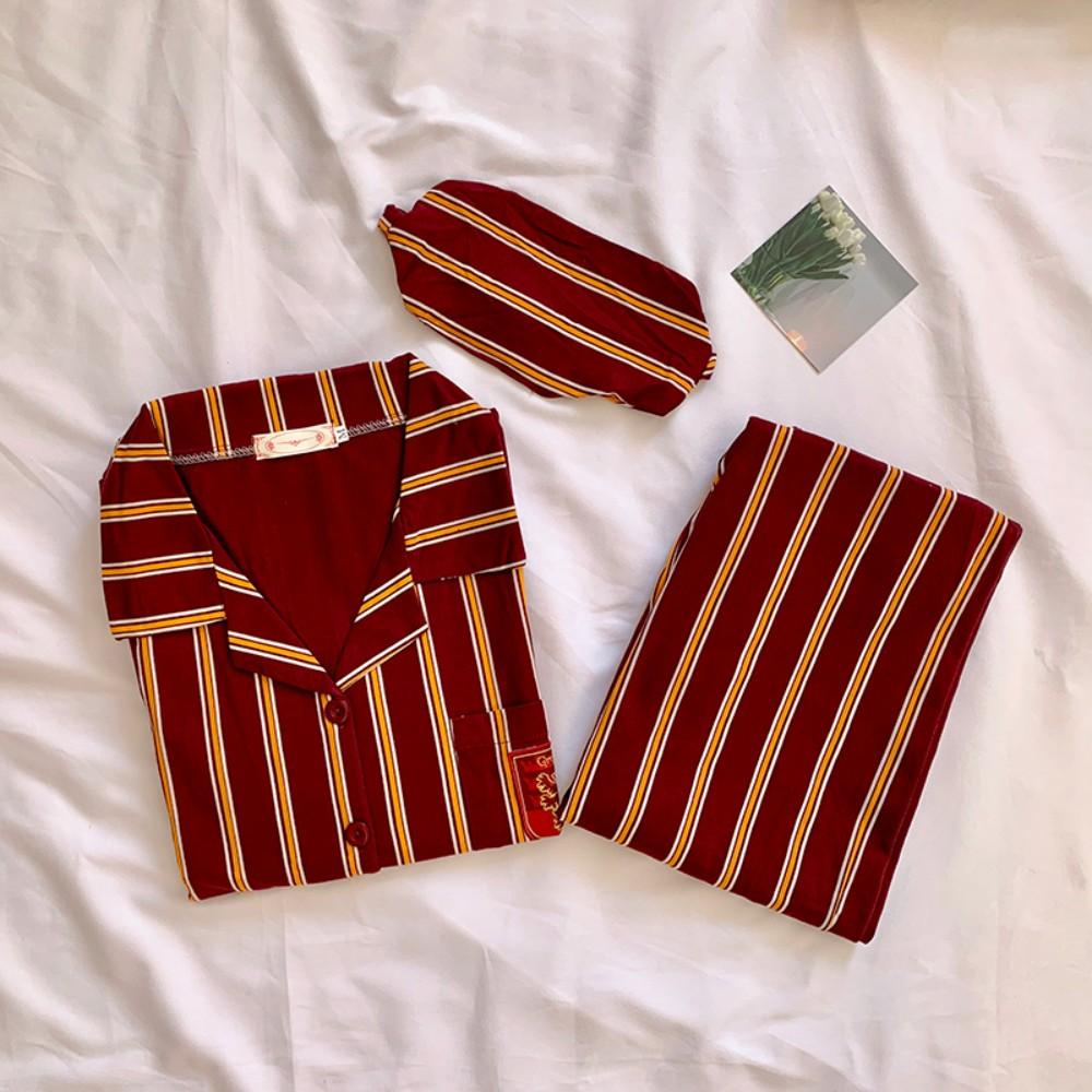 옥스퍼드 해리포터 수면 그린핀도르 슬리데린 커플 스트라이프 잠옷 파자마 홈웨어