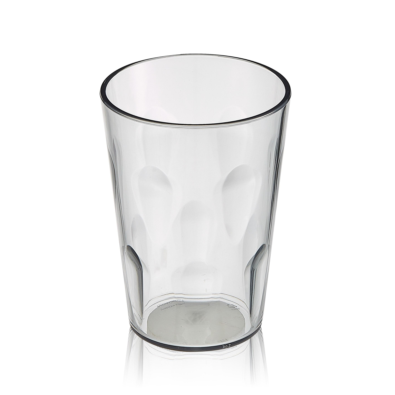 엔에프락 트라이탄컵 안깨지는 투명 물컵 10개, 그레이/물방울