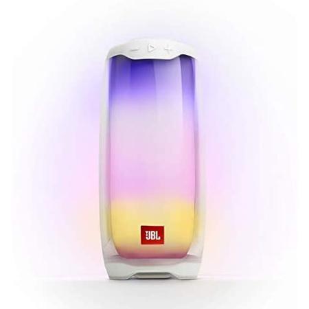 스피커 JBL Pulse 4 Waterproof Portable Bluetooth Speaker with Light Show - White JBLPULSE4WHTAM PR, 상세 설명 참조0