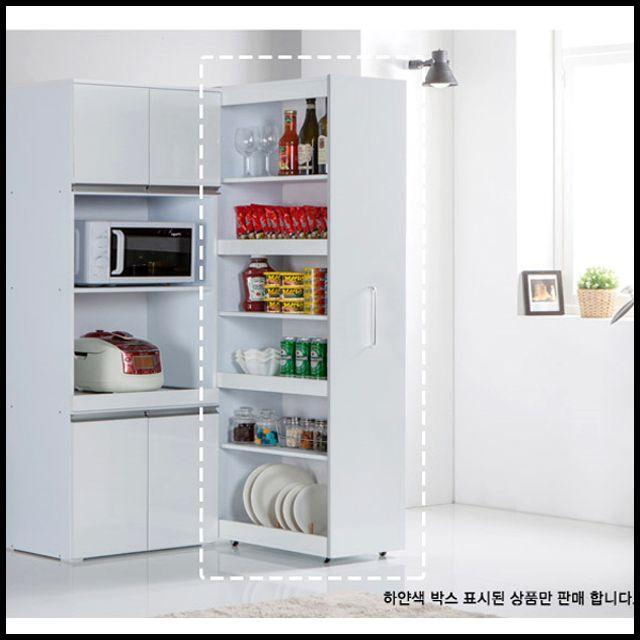 냉장고옆 슬라이딩 선반 틈새 수납장 팬트리장 6단 김치냉장고자리 활용, RCMK 본상품선택