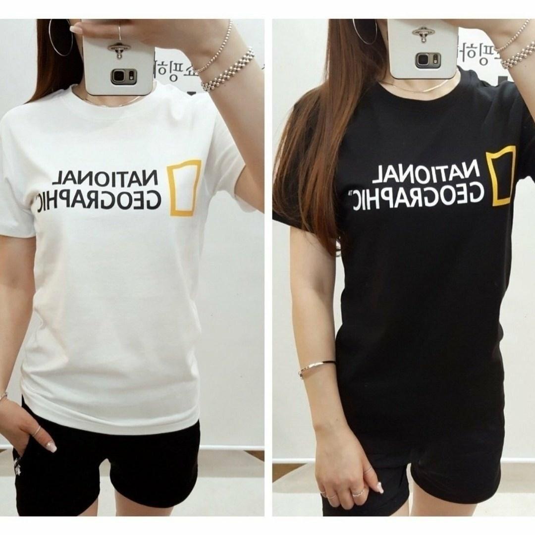 내셔널지오그래픽 빅로고 면 반팔 티셔츠 - 남여공용 ( 봄 .여름 .신상)