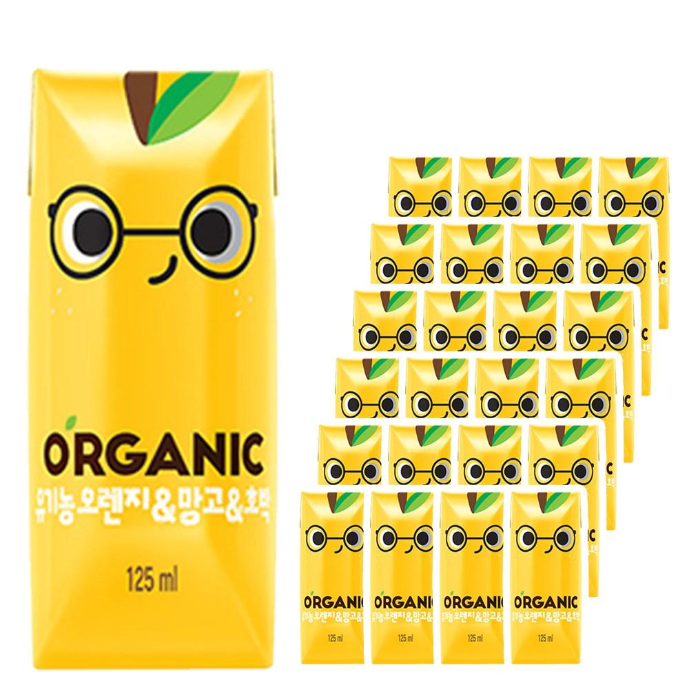 롯데칠성음료 크니쁘니 유기농 오가닉주스 오렌지&망고&호박 125ml x 24팩