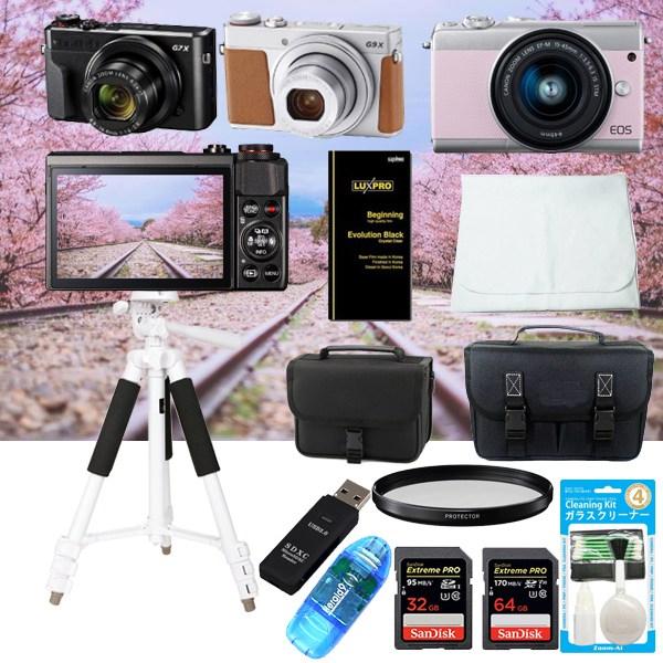캐논 EOS M100 M50 M10입문 패키지 악세사리 모음(카메라미포함) 미러리스카메라, 럭셔리패키지