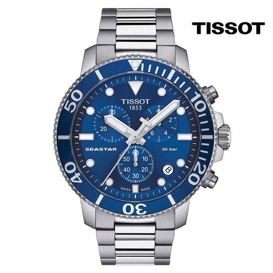 티쏘 씨스타 1000 쿼츠 크로노 T120.417.11.041.00 45.5mm 메탈시계