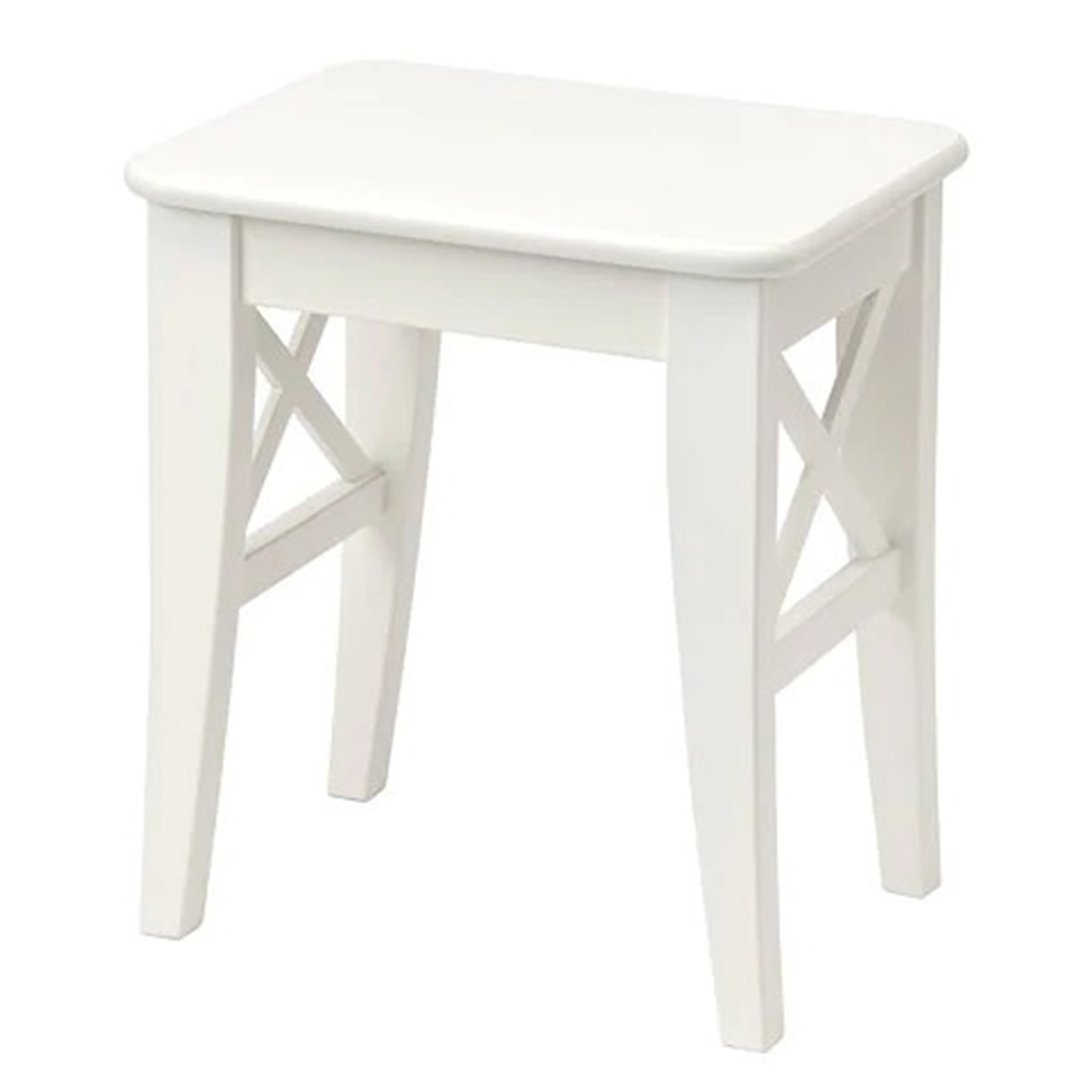 이케아 잉올프 사각 우드 원목 스툴 화장대 간의 의자, 화이트