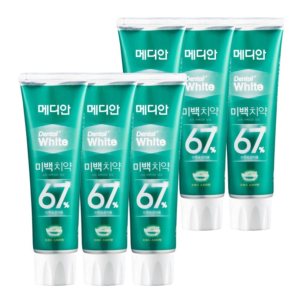 메디안 덴탈화이트 미백치약 스피아 100g 3입, 2개