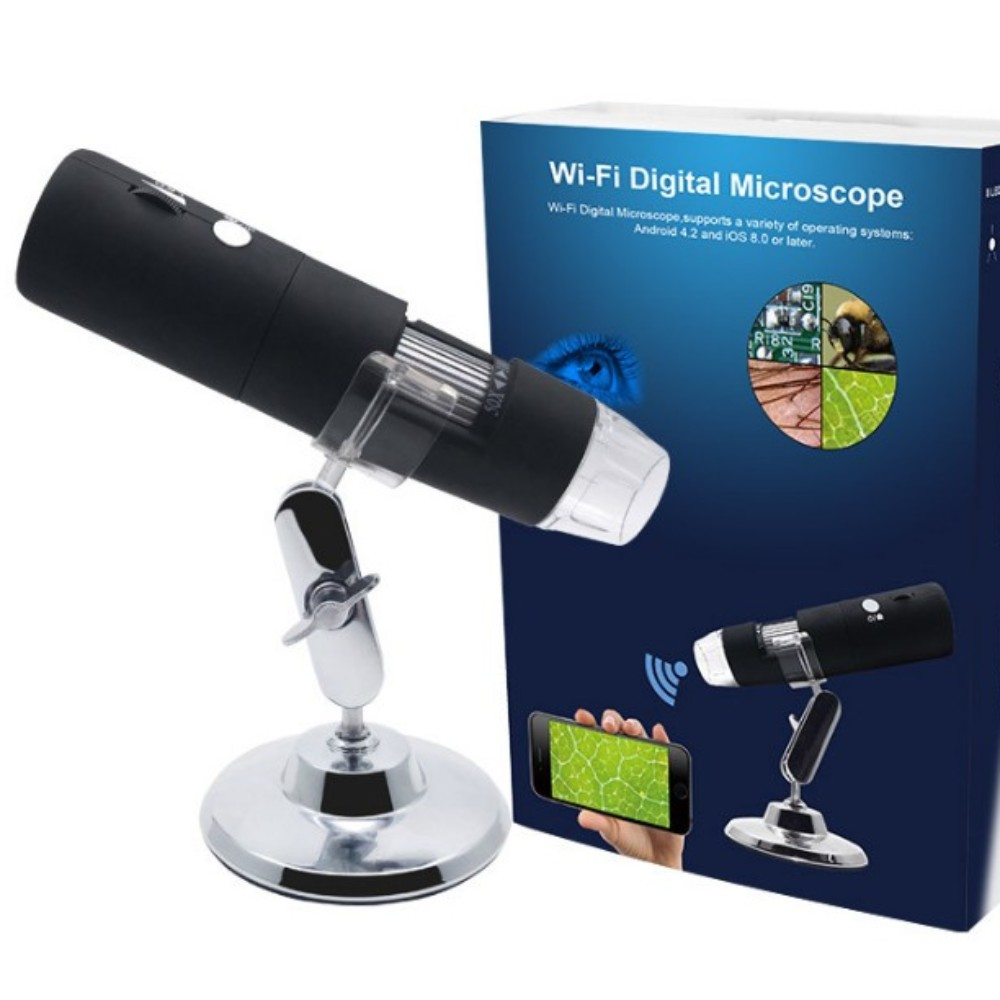 산업용 현미경 1080P HD 와이파이 무선 디지털 현미경 전자 측정 현미경 1000배, 단일상품