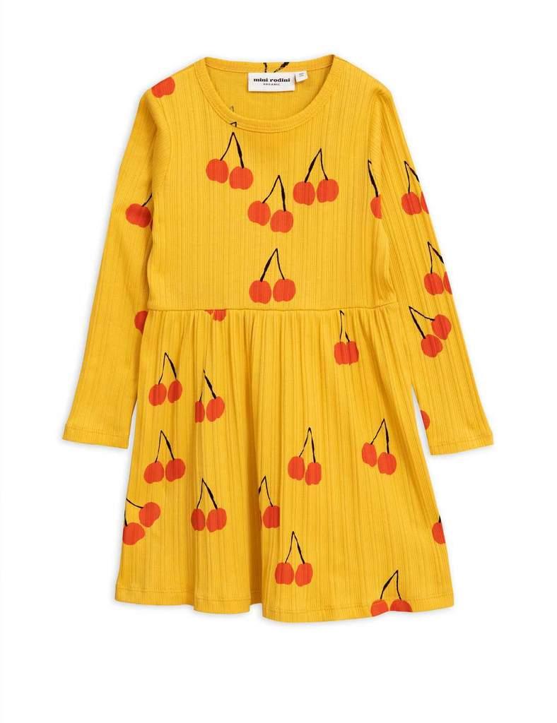 미니로디니 체리 LS 드레스 옐로우