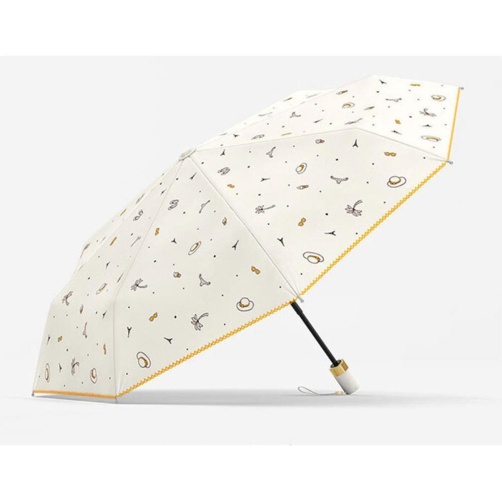 아기자기한 무늬 여성용 3단 자동 양우산 장마철우산