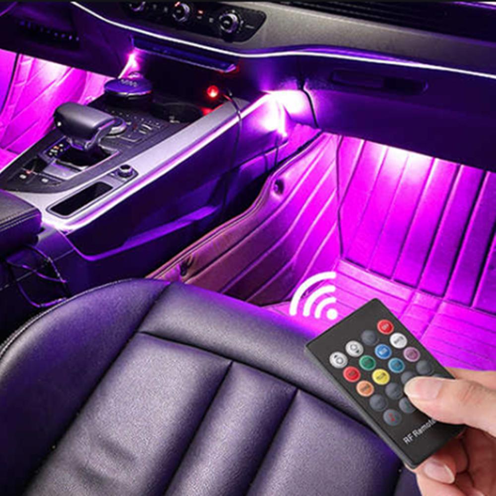삼항 12V용 RGB 소리반응댄싱 LED바 풋등 키트 세트, RGB 풋등