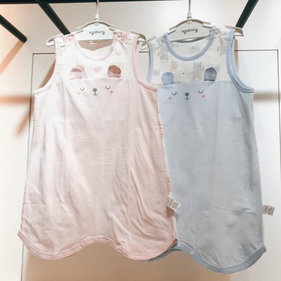 아가방 여름 초특가 수면조끼 핑크 블루 귀여운 케릭터 배앓이방지 슬립베베수면조끼