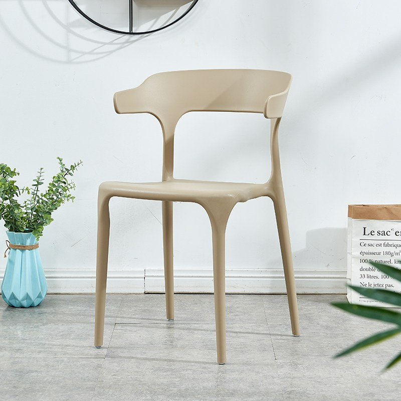유아식탁의자 심플 플라스틱 의자 셀럽 등받이의자 북유럽식 사무 가정용 경제형 식탁의자 캐주얼 우각의자, T20-(그레이)업그레이드