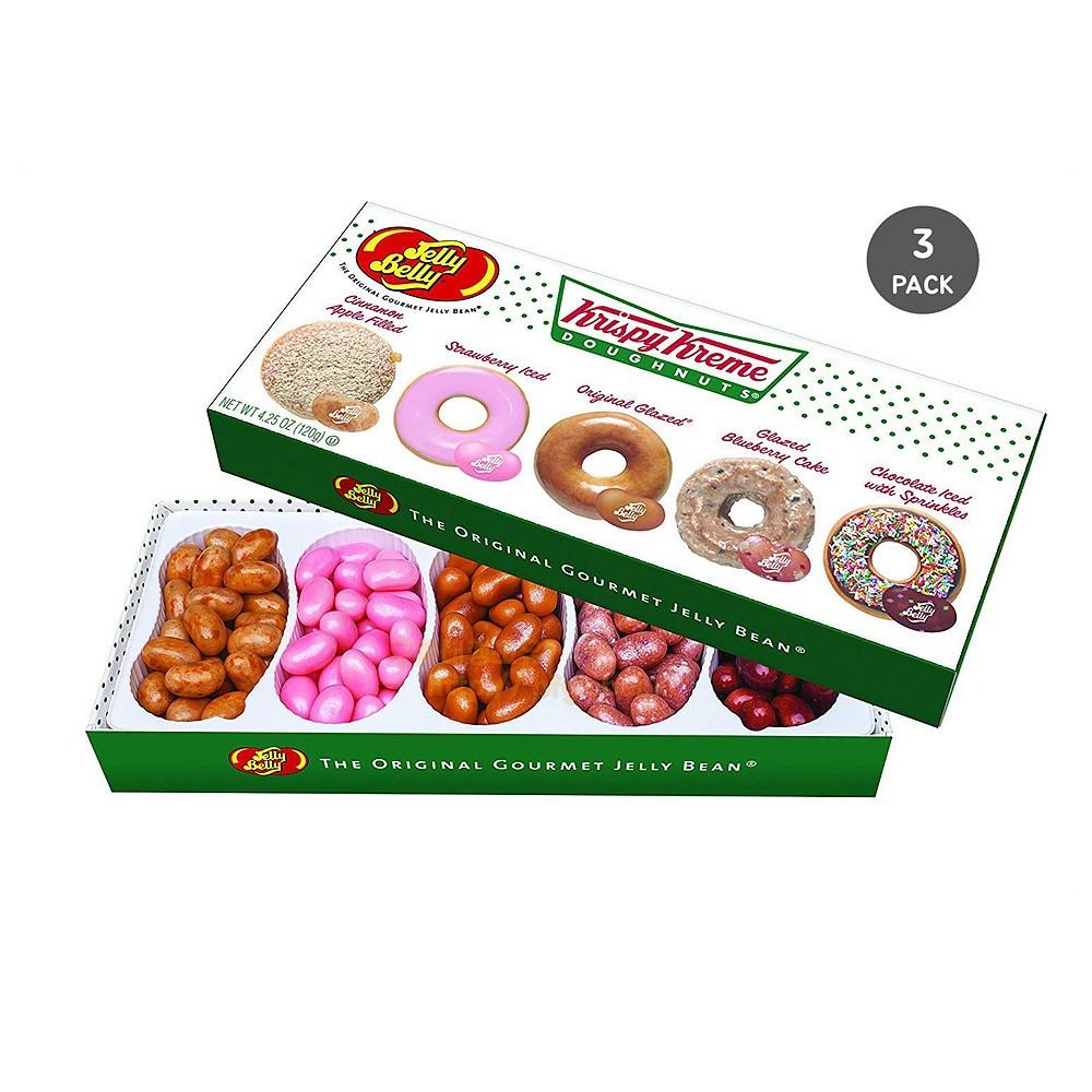 젤리벨리 Jelly Belly Krispy Kreme Doughnuts Beans Gift Box 크리스피 크림도넛 젤리빈 5가지맛 120g 3팩, 3개