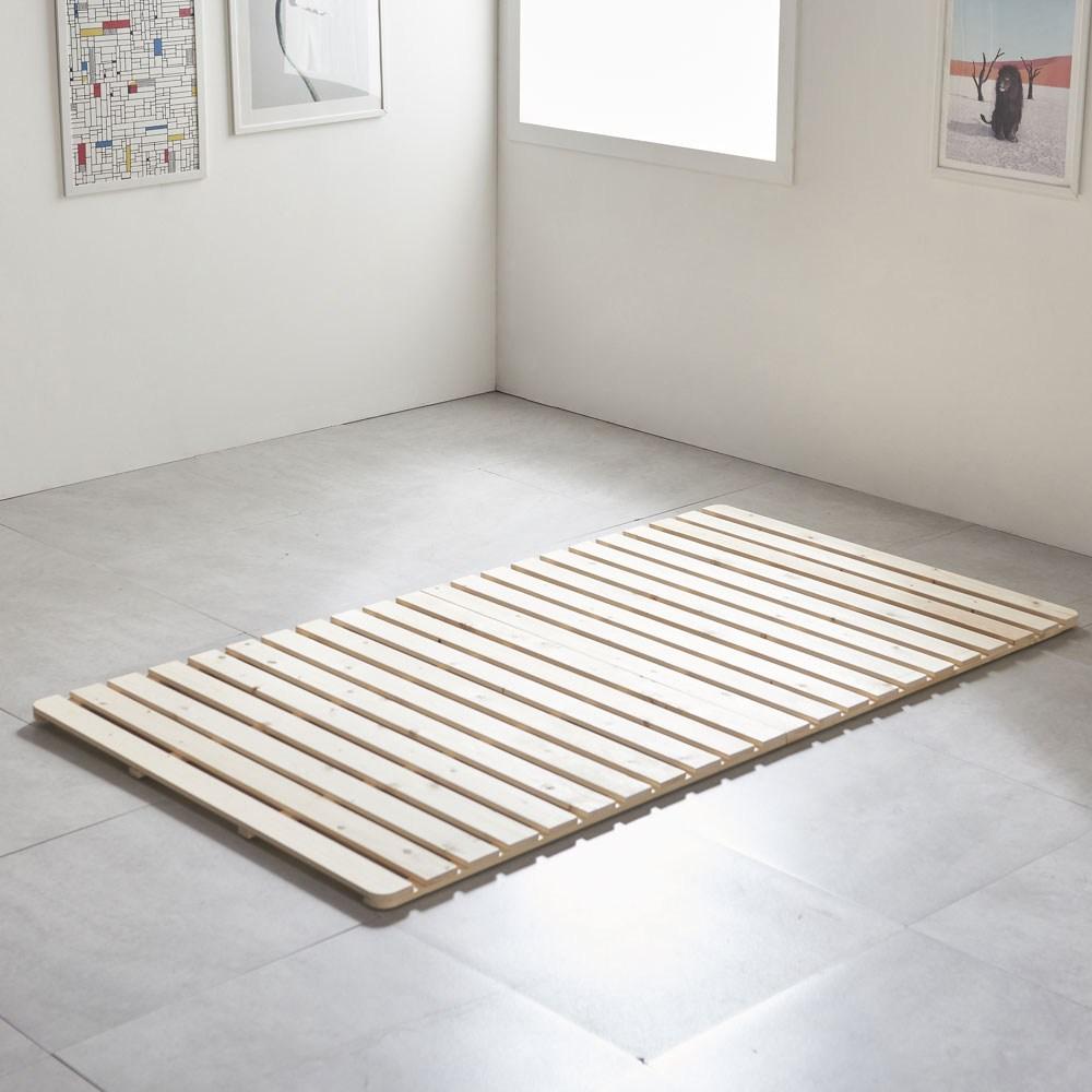 그린우드 원목 저상형 패밀리침대 매트리스 깔판 침대 프레임, 소나무 원목 깔판 슈퍼싱글(SS)