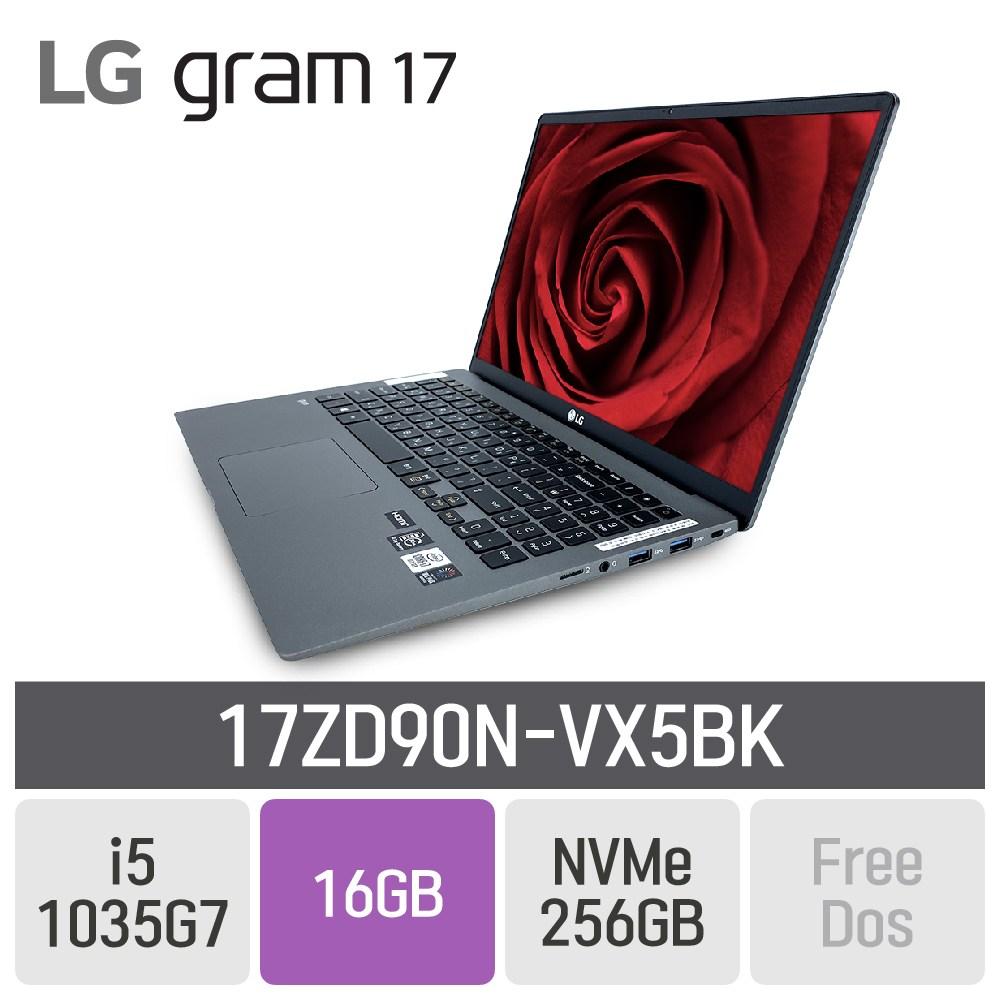 LG 그램17 2020 17ZD90N-VX5BK, 16GB, SSD 256GB, 미포함