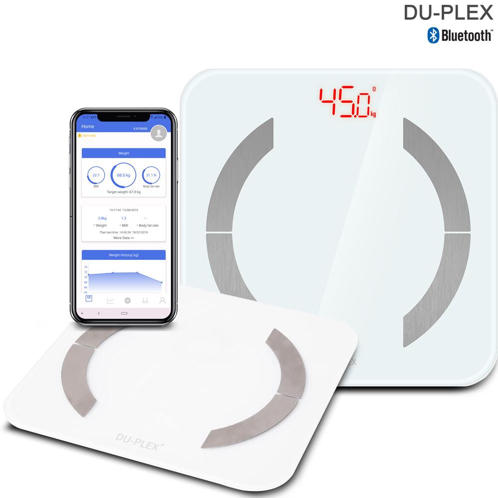 듀플렉스 블루투스 디지털 인바디 체지방 체중계 DP-7705BTS 체질량 측정, 화이트