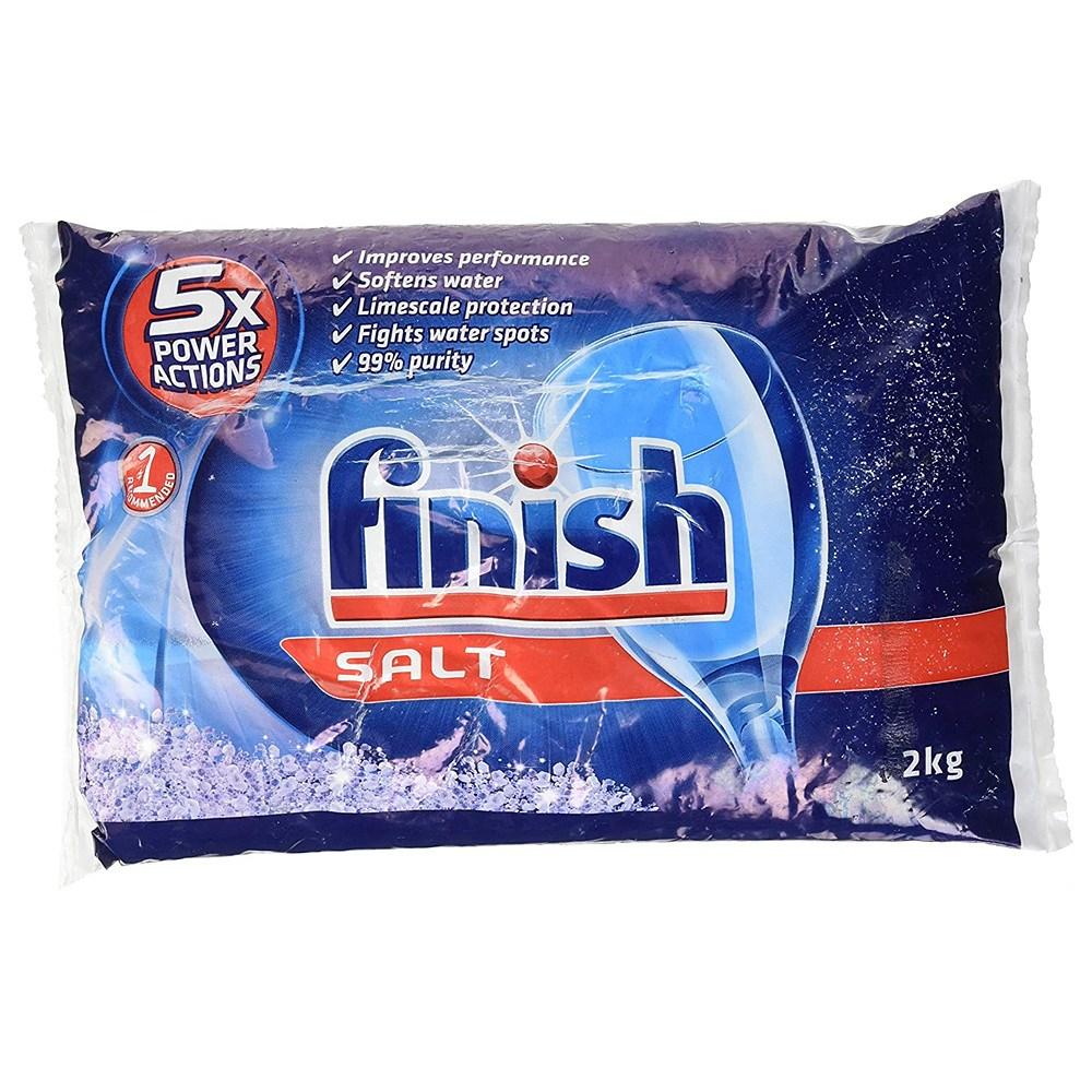 Finish Bosch SGZ9091UC Dishwasher Salt - 2Kg 5배 파워액션 식기세척기 소금 2kg, 1set