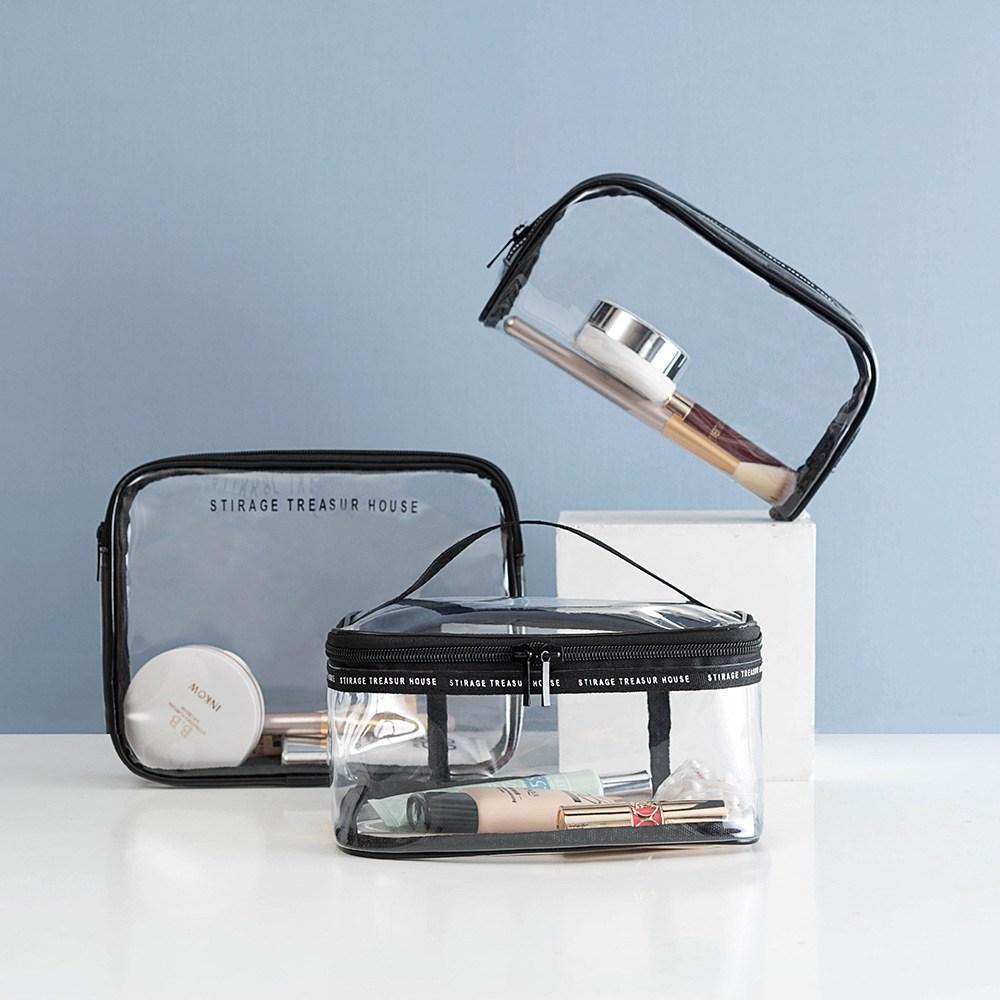 DABIT 투명 PVC 메이크업 화장품 파우치