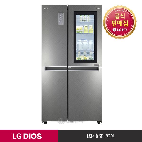 [LG전자] #DIOS 노크온 매직스페이스 양문형냉장고 S831SN75 (샤이니사피아노/8, 상세 설명 참조