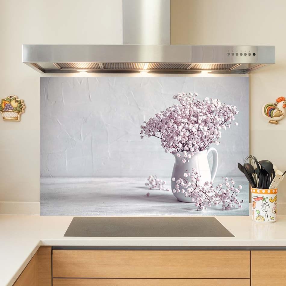 코나 주방아트보드 안개꽃 꽃병