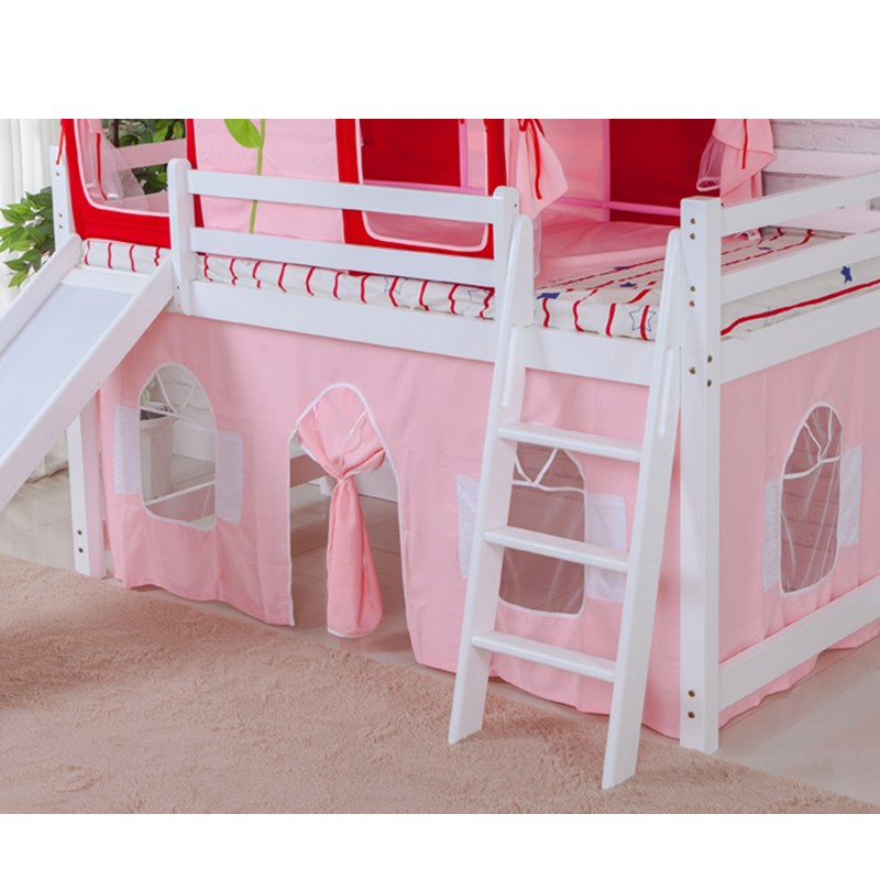 침실캐노피 뉴타입 침대분리 매직 아동침대 2층침대의위아래침대 침대텐트 어린이침대 장식 게임 소꿉놀이, T12-핑크 양면 침대커튼(치수 주문제작가능)