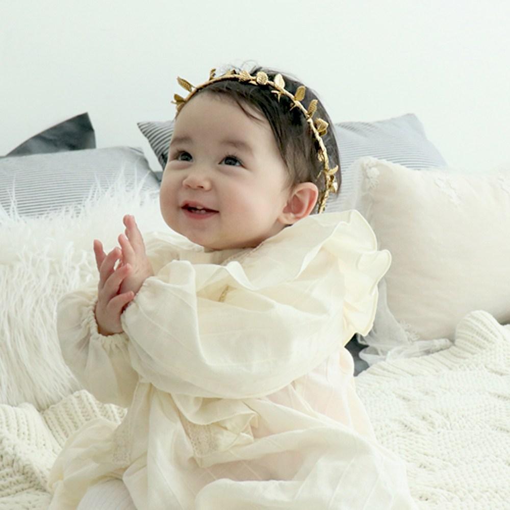 도도앤뉴 유아 아기 꽃잎 왕관 화관 머리띠