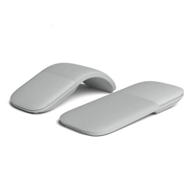 Bluetooth 접이식 무선 인체 공학적 아크 터치 컴퓨터 마우스 3d Silent Laser PC Mause, 02 회색, 한개옵션1