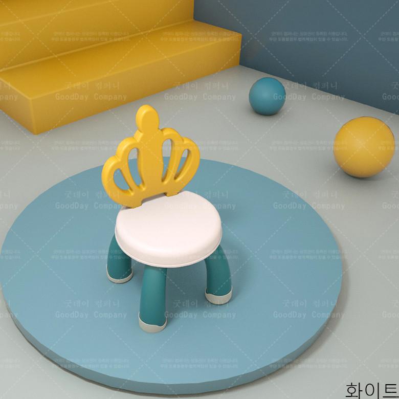 굿데이 컴퍼니 아동 플라스틱 하이팩 미끄럼 방지 의자 키즈 xETY01, 화이트
