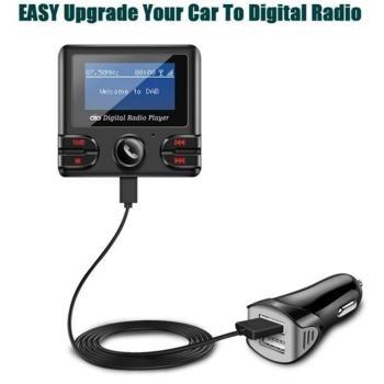 [해외] 범용 자동차 자동차 3.5mm AUX DAB DAB + 수신기 라디오 FM 송신기 안테나 키트