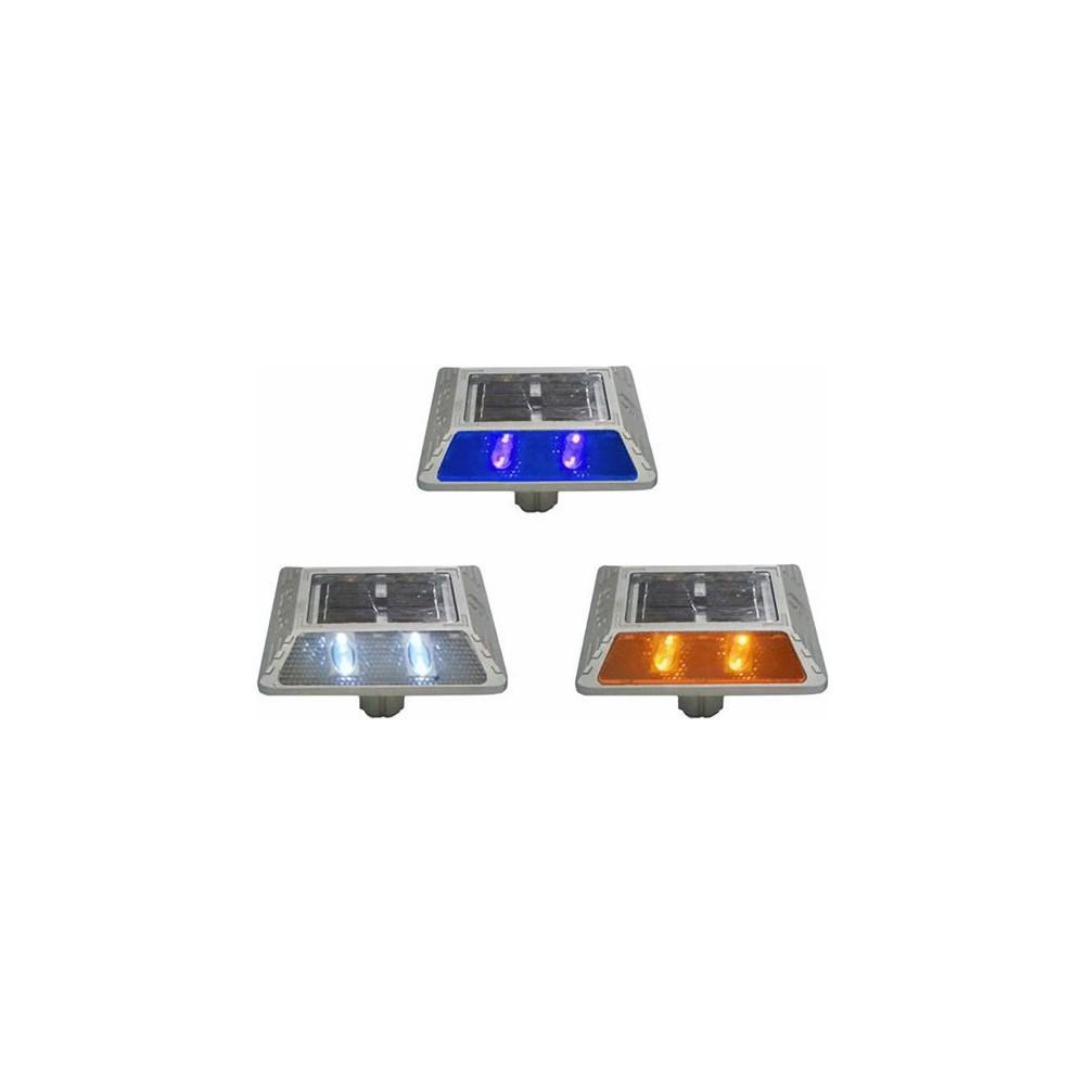 도로안전 필수품 다양한 LED 색상 쏠라 표지병 매립등 청색, 1개