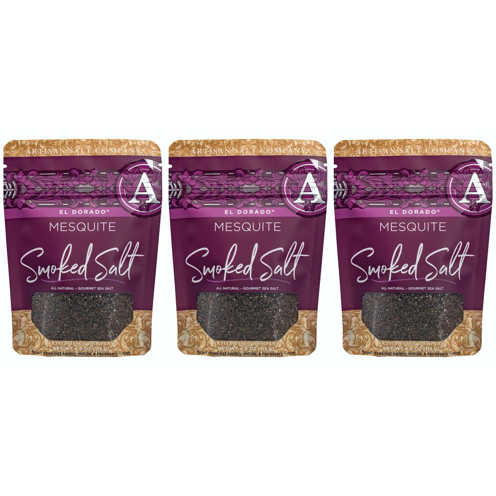 SaltWorks El Dorado Mesquite Smoked Sea Salt 솔트웍스 엘도라도 메스키트 스모크드 쏠트 소금 113g 3팩
