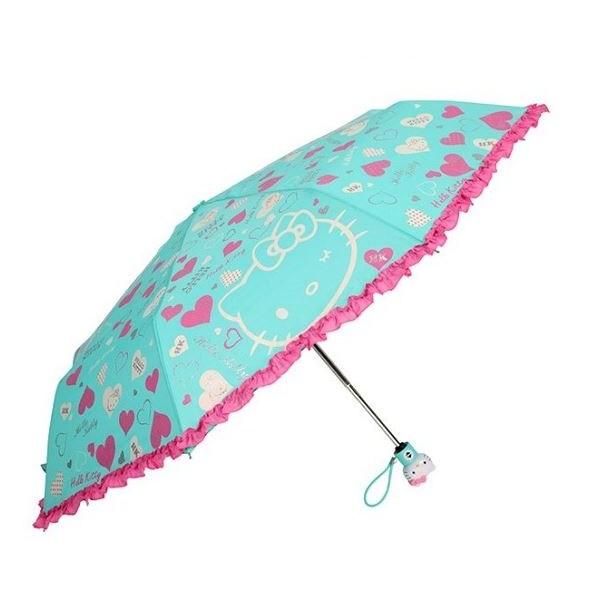 헬로키티 하트프릴 3단자동우산