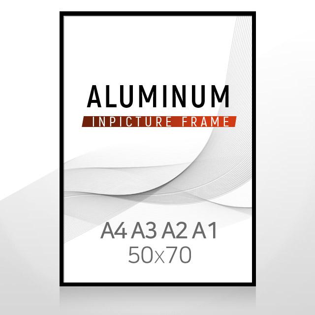 인픽쳐 A4 A3 A2 A1 5070 알루미늄 액자-프레임 액자, 블랙