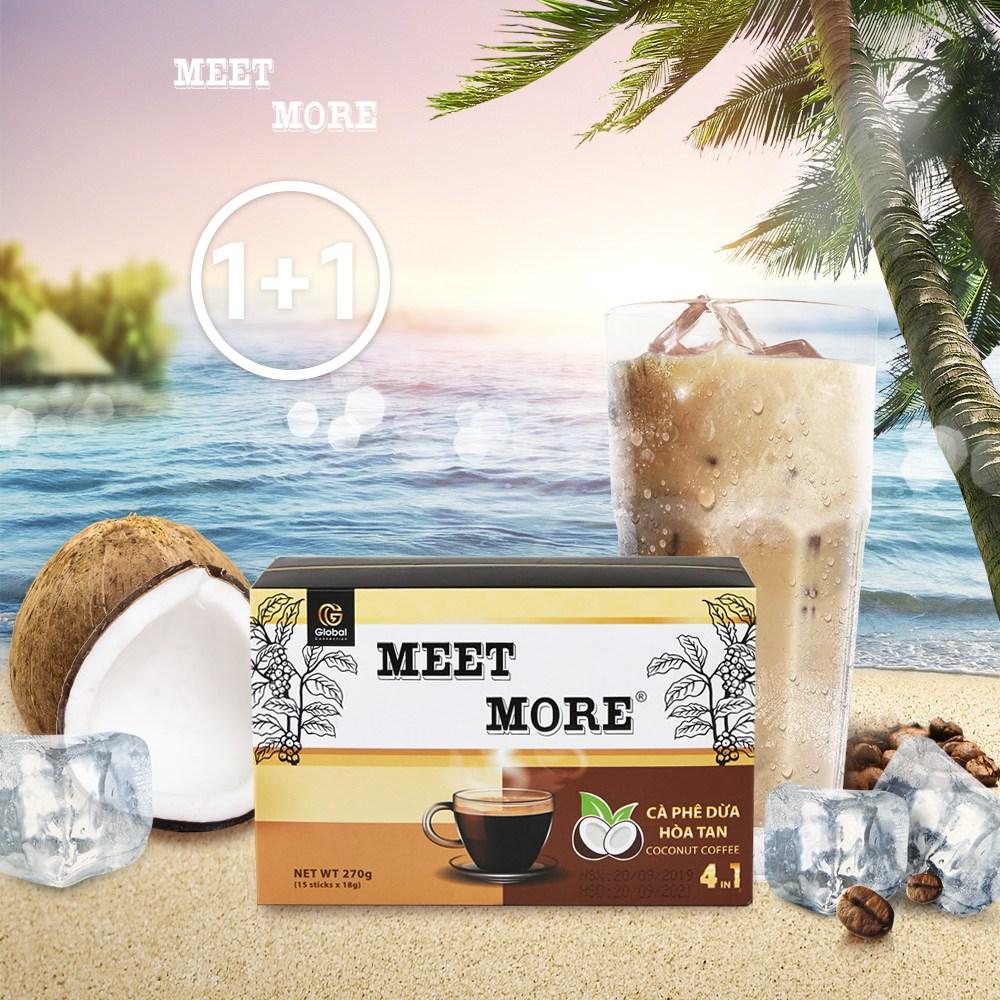 베트남 미트모어 2박스 4in1 코코넛 믹스 커피 달고나커피, 15개입