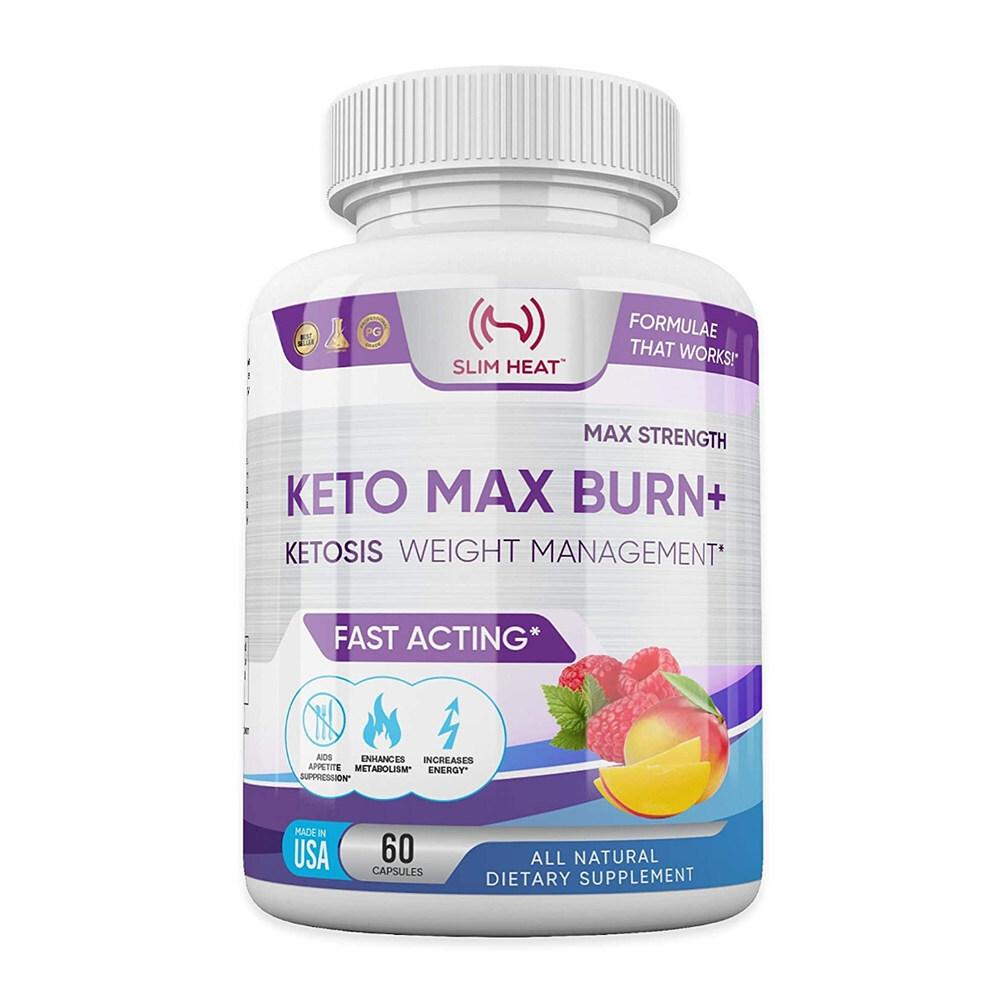 Slim Heat 슬림힛 60캡슐 케토시스 다이어트보조제 식욕억제제 기초대사량 증가, 1mg, 1개