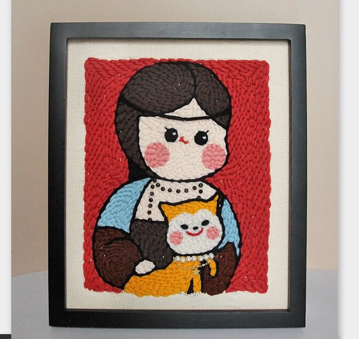 명화 액자 포스터 캔버스 그림 홈 아트 인테리어 장식, 포옹 밍크 여자