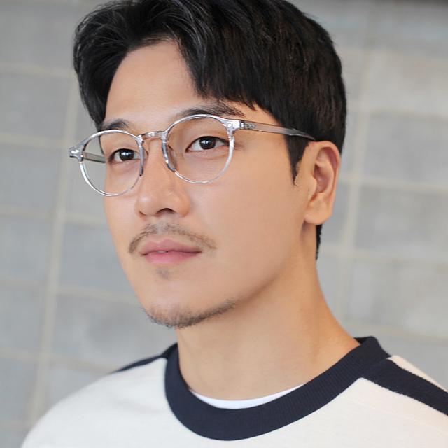 블루라이트 차단 안경 동글이 뿔테 투명안경테 1888