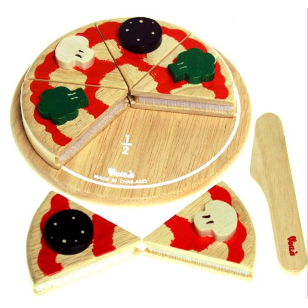 SIAM WOODEN PRODUCTS 원목 피자 썰기 조카선물 장난감 음식토이 음식모형 재료